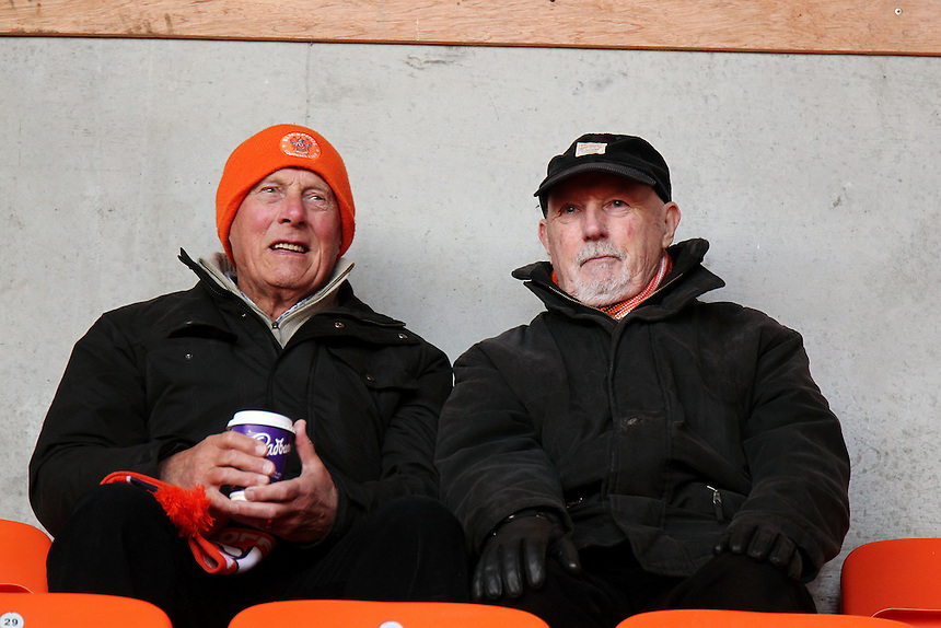 Blackpool fans wait for kick off<br /> <br /> Photographer Rich Linley/CameraSport<br /> <br /> The EFL Sky Bet League Two - Blackpool v Morecambe - Saturday 4th March 2017 - Bloomfield Road - Blackpool<br /> <br /> World Copyright &copy; 2017 CameraSport. All rights reserved. 43 Linden Ave. Countesthorpe. Leicester. England. LE8 5PG - Tel: +44 (0) 116 277 4147 - admin@camerasport.com - www.camerasport.com