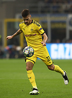 Football Soccer: UEFA Champions League -Group Stage- Group F Internazionale Milano vs Borussia Dortmund, Giuseppe Meazza stadium, October 23, 2019.<br /> Borussia Dortmund's Julian Weigl in action during the Uefa Champions League football match between Internazionale Milano and Borussia Dortmund at Giuseppe Meazza (San Siro) stadium, on October 23, 2019.<br /> UPDATE IMAGES PRESS/Isabella Bonotto
