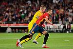 Spain's Rodrigo Moreno and England's Jordan Pickford during UEFA Nations League 2019 match between Spain and England at Benito Villamarin stadium in Sevilla, Spain. October 15, 2018. (ALTERPHOTOS/A. Perez Meca)