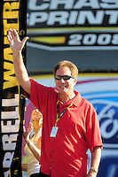 Nov. 16, 2008; Homestead, FL, USA; NASCAR Sprint Cup Series former champion Darrell Waltrip during the Ford 400 at Homestead Miami Speedway. Mandatory Credit: Mark J. Rebilas-
