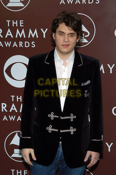 JOHN MAYER.47th Annual Grammy Awards - Arrivals. Los Angeles, California .February 13th, 2005.Photo Credit: Jacqui Wong/AdMedia.half length black embroidered suit jacket.www.capitalpictures.com.sales@capitalpictures.com.© Capital Pictures.