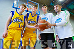 Darragh Broderick and Rap Buivydas from CBS with Daire Kennelly and Raul Venczel of Mercy Mounthawk as the face off on Thursday in the U19 All Ireland Basketball semi final in the Tralee Sports Complex, tip off at 12.45.