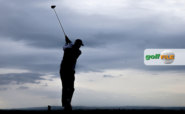 Daniel Brooks (ENG) drives down the 14th during Round Three of the 2015 Aberdeen Asset Management Scottish Open, played at Gullane Golf Club, Gullane, East Lothian, Scotland. /11/07/2015/. Picture: Golffile | David Lloyd<br /> <br /> All photos usage must carry mandatory copyright credit (&copy; Golffile | David Lloyd)