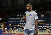 PHILADELPHIA, PA - NOVEMBER 18: USA freestyle wrestler Richard Perry address' the crowd during his first public appearance, since suffering a brain injury during a training accident, at the Keystone Classic on November 18, 2018 at The Palestra on the campus of the University of Pennsylvania in Philadelphia, Pennsylvania. (Photo by Hunter Martin/Getty Images) *** Local Caption *** Richard Perry