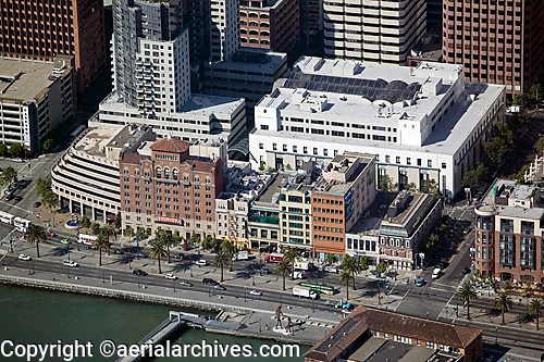 aerial photograph The Embarcadero,San Francisco, California