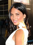 HOLLYWOOD, CA - JUNE 20: Olivia Munn arrives at the Los Angeles premiere of HBO's 'The Newsroom' at ArcLight Cinemas Cinerama Dome on June 20, 2012 in Hollywood, California.