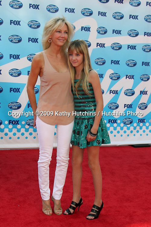Heather Locklear & Ava Sambora arriving at the Amerian Idol Season 8 Finale at the Nokia Theater in  Los Angeles, CA on May 20, 2009 .©2009 Kathy Hutchins / Hutchins Photo..