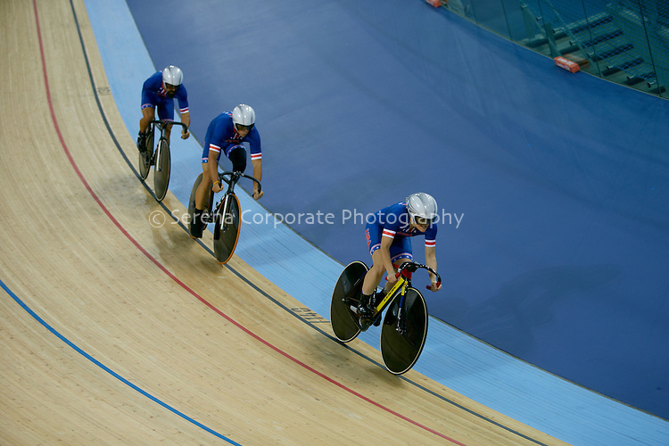 Track Cycling -Team USA take the bronze medal in the Mixed C1-5 Team Sprint, London Paralympic Games 2.9.12
