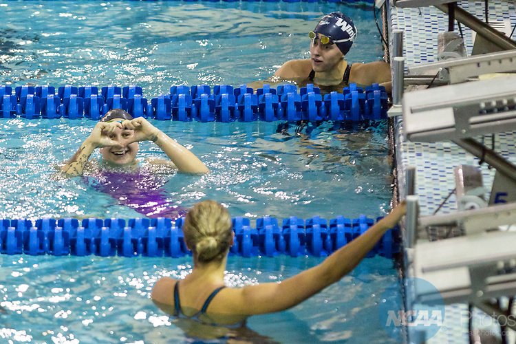 BIRMINGHAM, AL - MARCH 11: Hannah Peiffer of Queen's (NC) wins the Women 200 Yard Backstroke with a time of 1:54.48 during the Division II Men's and Women's Swimming & Diving Championship held at the Birmingham CrossPlex on March 11, 2017 in Birmingham, Alabama. (Photo by Matt Marriott/NCAA Photos via Getty Images)