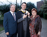 REPRO FREE<br /> 21/01/2015<br /> Woody Schiettecatte, France, BA Irish Music and Dance Irish World Academy of Music and Dance at the University of Limerick and also recipient of UL Co-Operative Education Award pictured with his parents Dominique and Jocelyne as the University of Limerick continues three days of Winter conferring ceremonies which will see 1831 students conferring, including 74 PhDs. <br /> UL President, Professor Don Barry highlighted the increasing growth in demand for UL graduates by employers and the institution&rsquo;s position as Sunday Times University of the Year. <br /> Picture: Don Moloney / Press 22