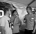 Joe Clark, Sam Bennett and Shaggy during the Box Pro in Margaret River, Western Australia