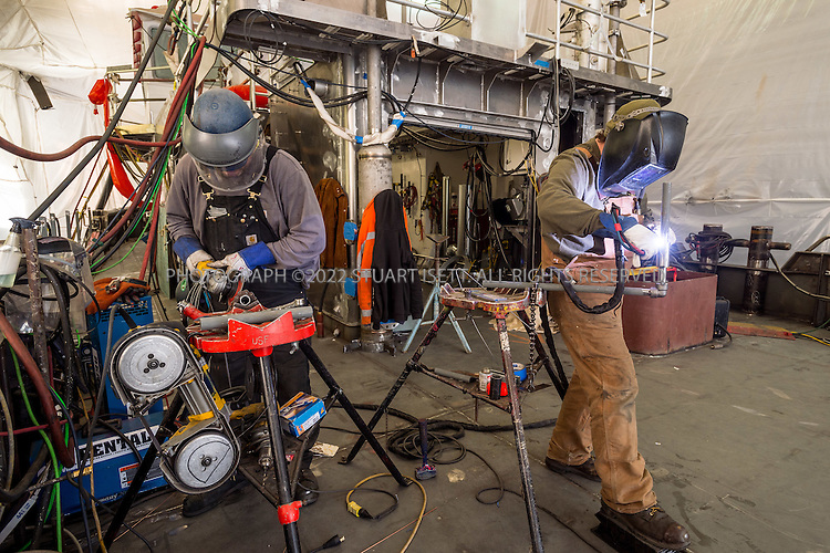 January 14th, 2016 &mdash; Seattle, WA, USA<br /> <br /> <br /> A new a fireboat being built for the San Francisco Fire Department by Vigor Fab.<br /> <br /> Designed by Jensen Maritime Consultants, the 88&rsquo;x&rsquo;25x&rsquo;14&rsquo; vessel fireboat will have a top speed of 11.5 knots in full load condition and accommodate up to three crew members and four firefighters aboard the vessel. The fireboat engines are EPA Tier III certified Cummins QSK19-M, which have a maximum engine horsepower of 750 bhp at 1800 rpm. &nbsp;Its&nbsp;firefighting system consists of six Stang fire monitors, which will&nbsp;be supplied with water and foam from three 6,000 gpm fire pumps.<br /> <br /> Photograph by Stuart Isett<br /> &copy;2015 Stuart Isett. All rights reserved.