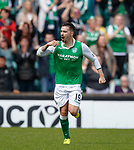 13.05.2018 Hibs v Rangers: Jamie Maclaren celebrates his second goal