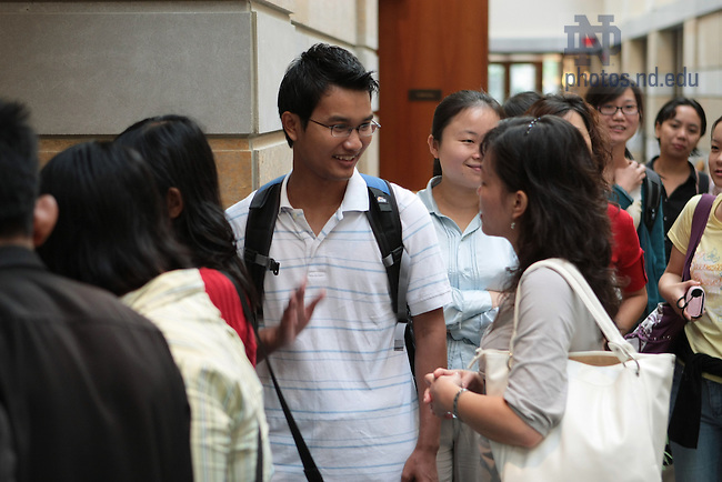 Foreign Language Teaching Assistant orientation at the Hesburgh Center