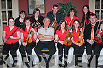 "Members of Ceoilto?iri? le Che?ile who presented a ""Seisiun""  in The Listowel Arms Hotel on Wednesday night and will perform there evert Wednesday night during July and August.  Front l-r Caiti?n O'Shea, Castlemaine, Jane O'Shea Keel, Michael Dowling, Listowel, Linda Kennelly, Moyvane, Davina Guerin, Ballyduff, and James Duggan, Listowel.  Back l-r Edari?n O? Connell, Lyrecrompane, Aisling O'Hanlon, Lixnaw, Graham Guerin, Ballyduff, Louise Bunyan, Listowe and Lorriane Horgan, Lisselton.  .   Copyright Kerry's Eye 2008"