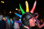 "© Joel Goodman - 07973 332324 . 22/08/2014 .  Manchester , UK . Interesting head wear on display . Manchester Pride "" Big Weekend "" in Manchester's "" Gay Village "" today ( 22nd August 2014 ) . Photo credit : Joel Goodman"