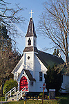 Port Townsend, Historic Saint Paul's Episcopal Church 1862, Puget Sound, Washington State, State Park, Pacific Northwest,