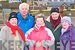 Nuala Spillane, Pat Murphy, Nuala O'Connor, Eoin Spillane and Evelyn O'Shea who participated in the Kerry Hospice walk on Rossbeigh beach Friday morning   Copyright Kerry's Eye 2008