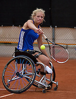10-08-13, Netherlands, Rotterdam,  TV Victoria, Tennis, NJK 2013, National Junior Tennis Championships 2013,  Diede de Groot winner wheelchair <br /> <br /> Photo: Henk Koster