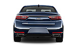 Straight rear view of 2018 KIA Cadenza Premium 4 Door Sedan Rear View  stock images