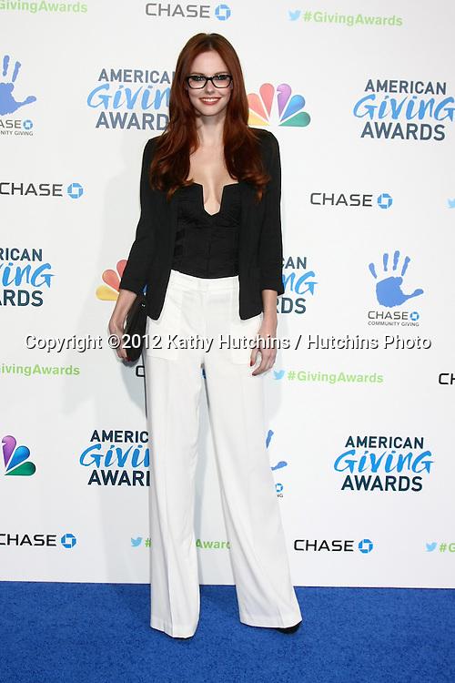 LOS ANGELES - DEC 7:  Alyssa Campanella arrives to the 2012 American Giving Awards at Pasadena Civic Center on December 7, 2012 in Pasadena, CA