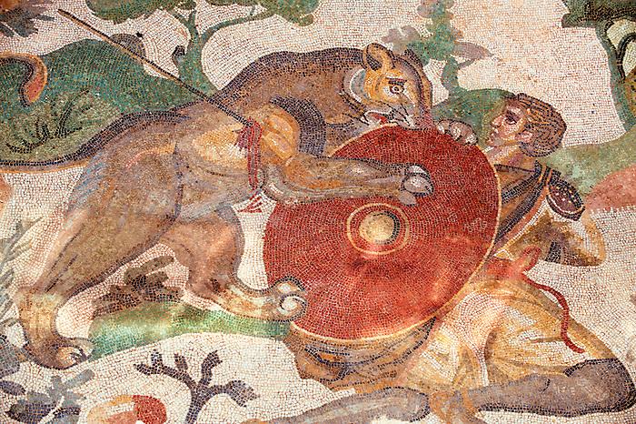 Hunters - Ancient Roman mosaics at the Villa Romana del Casale, Sicily, Italy Pictures, Photos, Images & fotos