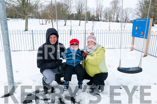 Playground in The Snow: Enjoying the snow in the children's playground in Listowel town pak on Friday last were Carsten, Conor & Ciara Ilchmann, Listowel .