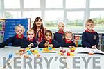 The six new Juniors who started school on Monday in Cillín Liath NS were l-r; Bridie NíBhrian, Neasa NíMhurchú-Ní Shé, Maeve Ní Dhuinnín Uí Chuirc, Emma Ní Ghrifín, Aine Ní Chróinín, Caoimhe Ní Shé agus Donagh Ó Conchúir.
