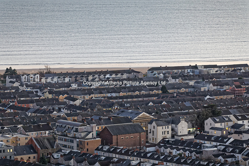 General view of Sandfields and Brynmill areas in Swansea, Wales, UK. Wednesday 30 January 2019