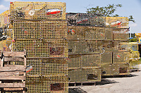 Lobster traps are pictured in the harbor of Tremont, Maine Wednesday June 19, 2013.