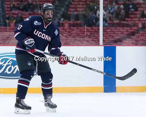 Joseph Masonius (UConn - 13) - The University of Maine Black Bears defeated the University of Connecticut Huskies 4-0 at Fenway Park on Saturday, January 14, 2017, in Boston, Massachusetts.