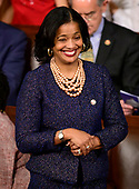United States Representative Jahana Hayes (Democrat of Connecticut) at her seat as the 116th Congress convenes for its opening session in the US House Chamber of the US Capitol in Washington, DC on Thursday, January 3, 2019.  Representative Hayes was the 2016 National Teacher of the Year.<br /> Credit: Ron Sachs / CNP<br /> (RESTRICTION: NO New York or New Jersey Newspapers or newspapers within a 75 mile radius of New York City)