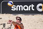 10.05.2015, Muenster, Schlossplatz<br /> smart beach tour, Supercup MŸnster / Muenster, Halbfinale<br /> <br /> Zuspiel Markus Bšckermann / Boeckermann<br /> <br />   Foto &copy; nordphoto / Kurth