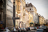 SERBIA, Belgrade, Downtown street in Belgrade, Eastern Europe
