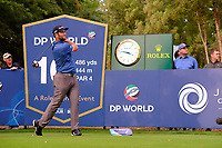 Jon Rahm (ESP) on the 16th tee during the 1st round of the DP World Tour Championship, Jumeirah Golf Estates, Dubai, United Arab Emirates. 21/11/2019<br /> Picture: Golffile | Fran Caffrey<br /> <br /> <br /> All photo usage must carry mandatory copyright credit (© Golffile | Fran Caffrey)