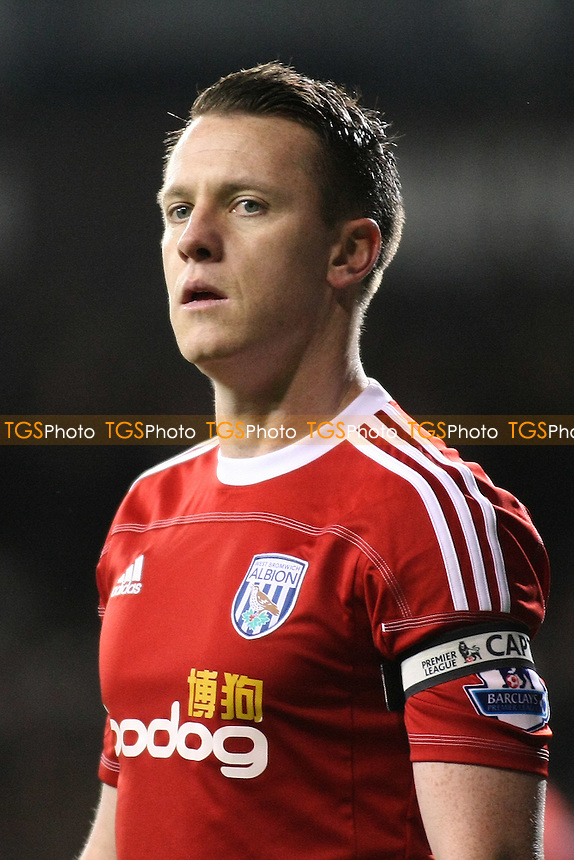 Nicky Shorey (West Bromwich Albion) - Tottenham Hotspur vs West Bromwich Albion - Barclays Premier League Football at White Hart Lane, London - 03/01/12 - MANDATORY CREDIT: George Phillipou/TGSPHOTO - Self billing applies where appropriate - 0845 094 6026 - contact@tgsphoto.co.uk - NO UNPAID USE.