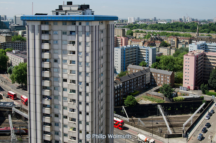 Camden Council housing: Gilfoot on Ampthill Square Estate, Camden Town, and Regents Park Estate.  Both are scheduled for demolition under current plans for the London terminal of the HS2 high speed train line.