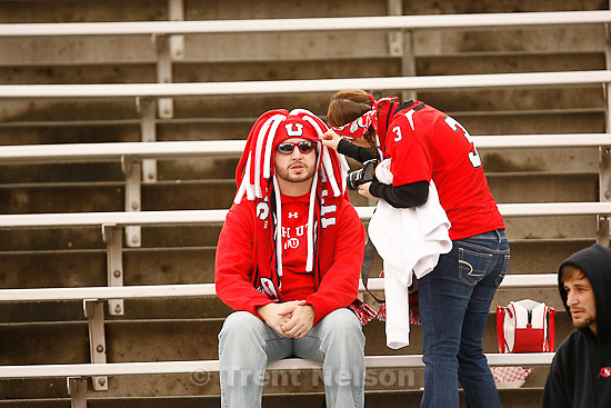 Trent Nelson  |  The Salt Lake Tribune.fans pregame, Utah vs. Arizona State, college football at Rice-Eccles Stadium in Salt Lake City, Utah, Saturday, October 8, 2011.