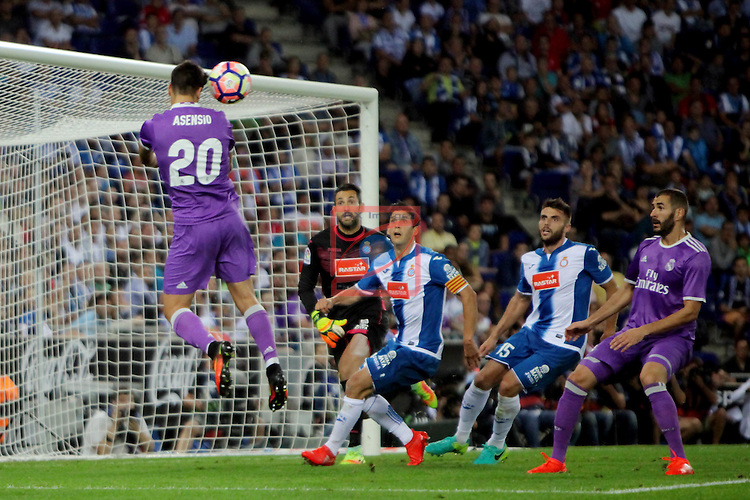 League Santander 2016/2017. Game: 4.<br /> RCD Espanyol vs R. Madrid: 0-2.<br /> Marco Asensio.