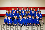 First day for Mrs De Burca's Junior Infants at St. Mary's NS Killorglin. Pictured Liam Brennan, Ryan Cronin, Ivan Crowley, Joey Doyle, Robert Doyle, Caolan Gamble, Rian McCann, Cillian McEvoy, Eanna Naughton, Sean O'Brien, Oliver O'Shea, William Ratto, Ruari O'Sullivan, Anthony West, Dylan Williams, Nina Bielecka, Leah Doyle, Chloe Falvey, Kate Foley, Niamh Murphy, Abigail O'Connor, Faye O'Flaherty Moriarty, Ellie O'Shea, Robyn O'Shea, Yashvi Rathee, Ciara Sheehan