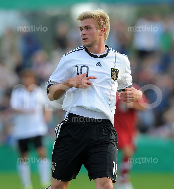 FUSSBALL INTERNATIONAL   Freundschaftsspiel U 20   31.08.2011 Deutschland - Polen Florian Trinke (Deutschland)