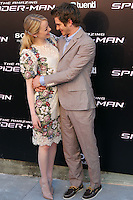 Emma Stone, Andrew Garfield - The Amazing Spider-Man - photocall in Madrid NORTEPHOTO.COM<br />