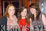 Catriona O'Sullivan, Katie O'Connor and Lauren O'Sullivan having fun at the Legion GAA social in the Killarney Avenue Hotel on Saturday night.
