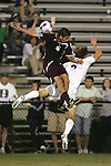 05 October 2007: Boston College's Alejandro Bedoya (16) collides with Duke's Graham Dugoni (right). Boston College defeated Duke University at Koskinen Stadium in Durham, North Carolina in an NCAA Men's soccer game.