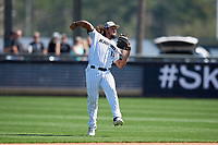 UCF Knights second baseman Matthew Mika (14) during practice before a game against the Siena Saints on February 17, 2019 at John Euliano Park in Orlando, Florida.  UCF defeated Siena 7-1.  (Mike Janes/Four Seam Images)
