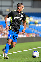Anthony Knockaert of Brighton & Hove Albion  during the Friendly match between Brighton and Hove Albion and Lazio at the American Express Community Stadium, Brighton and Hove, England on 31 July 2016. Photo by Edward Thomas / PRiME Media Images.