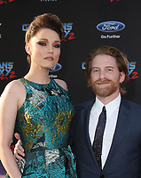 HOLLYWOOD, CA - April 19: Clare Grant, Seth Green, At Premiere Of Disney And Marvel's &quot;Guardians Of The Galaxy Vol. 2&quot; At The Dolby Theatre  In California on April 19, 2017. <br /> CAP/MPI/FS<br /> &copy;FS/MPI/Capital Pictures
