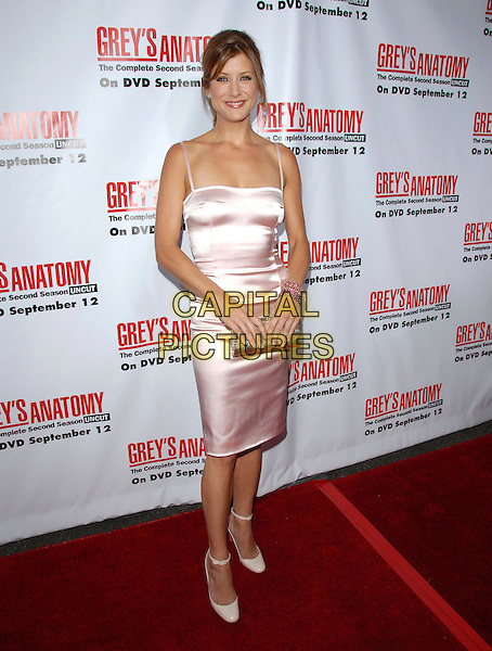 KATE WALSH.The Grey's Anatomy 2nd Season DVD Launch held at Social in Hollywood, California, USA..September 5th, 2006.Ref: DVS.full length pink satin dress gold clutch purse bracelet.www.capitalpictures.com.sales@capitalpictures.com.©Debbie VanStory/Capital Pictures