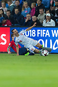 June 10th 2017, Ullevaal Stadion, Oslo, Norway; World Cup 2018 Qualifying football, Norway versus Czech Republic; Pavel Kaderabek of Czech Republic is slide tackled during the FIFA World Cup qualifying match