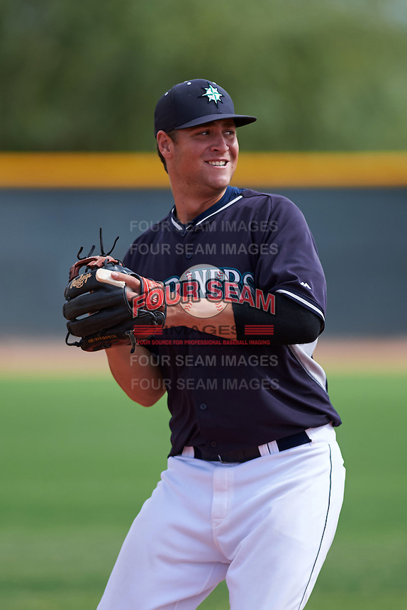 Seattle Mariners Lachlan Fontaine (11) during an instructional league game against the Texas Rangers on October 5, 2015 at the Surprise Stadium Training Complex in Surprise, Arizona.  (Mike Janes/Four Seam Images)